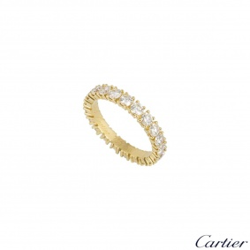 Cartier Yellow Gold Diamond Etincelle De Cartier Ring